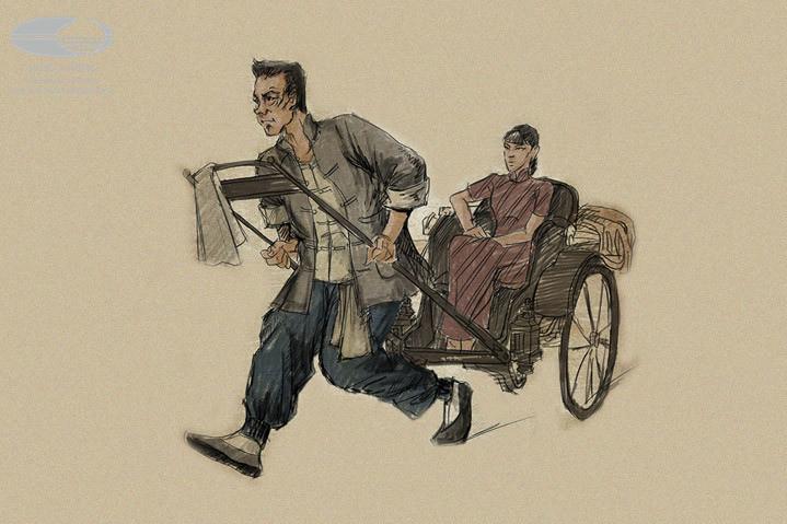 阿宽) 剧中人物服装设计图(服化设计:阿宽) 歌剧《骆驼祥子》力邀中国